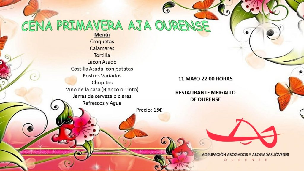 Cena Primavera AJA Ourense, 11 DE MAYO orig